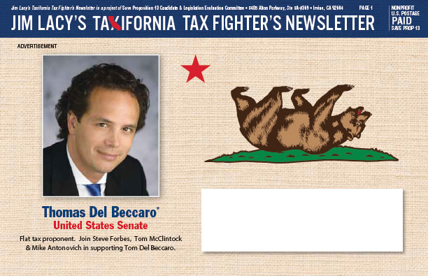 """""""Taxifornia"""" Tax Fighters Voter Guide"""